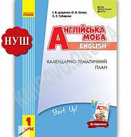Календарно-тематичний план Англійська мова 1 клас Start Up НУШ Доценко Ранок