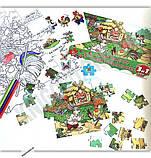 Мій конверт секрет Зайчикова хатинка 40 елементів пазлів набір наліпок велика розмальовка 3 в 1 Вид: УЛА, фото 2