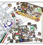 Мій конверт секрет Три ведмеді 40 елементів пазлів набір наліпок велика розмальовка 3 в 1 Вид: УЛА, фото 2