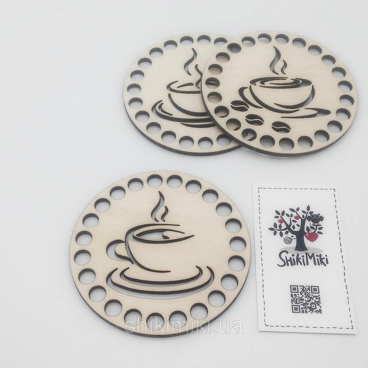 "Заготовка-подставка из фанеры круглая ""Coffee-3"" (10 см)"
