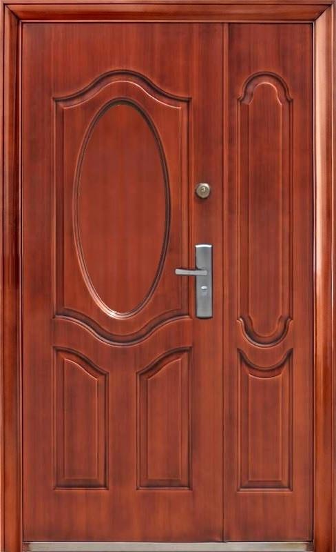 Уличные полуторные китайские входные двери ААА 722 автолак медь