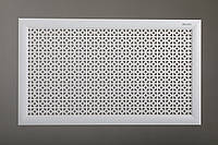 """Решетка для стальных радиаторов 50 см х 100 см """"Сталь"""" в комплекте с креплениями, цвет белый"""