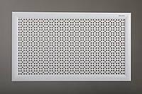 """Решетка для стальных радиаторов 50 см х 120 см """"Сталь"""" в комплекте с креплениями, цвет белый"""