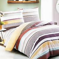 Комплект постельного белья из сатина Brown Stripes - 5050
