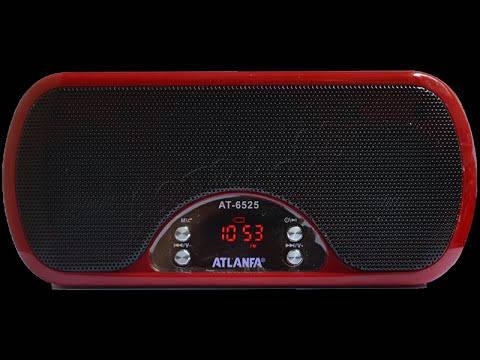 Портативная активная колонка Atlanfa AT-6525 AUX Мр3 USB MicroSD Выход mini jack 3,5 Li-ion аккумулятор+LED , фото 2