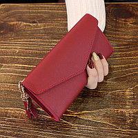 Кошелек женский / жіночий гаманець бордо красный цвет