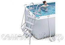 Каркасный бассейн с фильтром и лестницей Bestway. Размер ДхШхВ: 412-201-122 см. Объем: 8679 л. 56456, фото 3