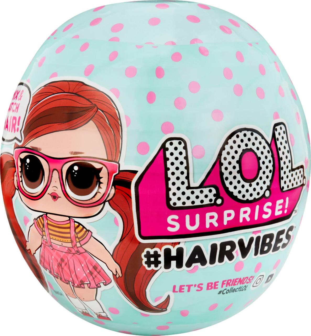 Кукла ЛОЛ с цветными волосами LOL Hairvibes Tots, MGA 564744