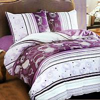 Комплект постельного белья из сатина Purple Circle - 5072
