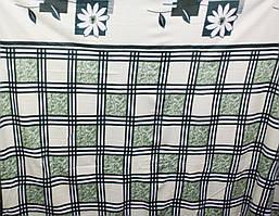 Плед флис c рисунком  185х170см. зелений с бежем