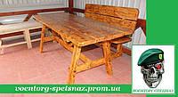 Стол садовый лакированый в беседку, на дачу или во двор ручная работа