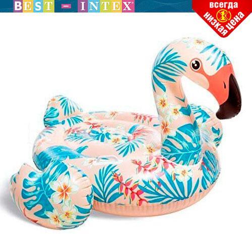 Надувной плотик Тропический Фламинго Intex 57559 (142х137х97 см) Розовый