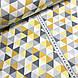 Хлопковая ткань польская треугольники желто-оранжевые, фото 2