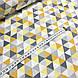 Хлопковая ткань польская треугольники желто-оранжевые, фото 3