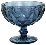 Креманка 250 мл Изумруд синее стекло 34215-10-2