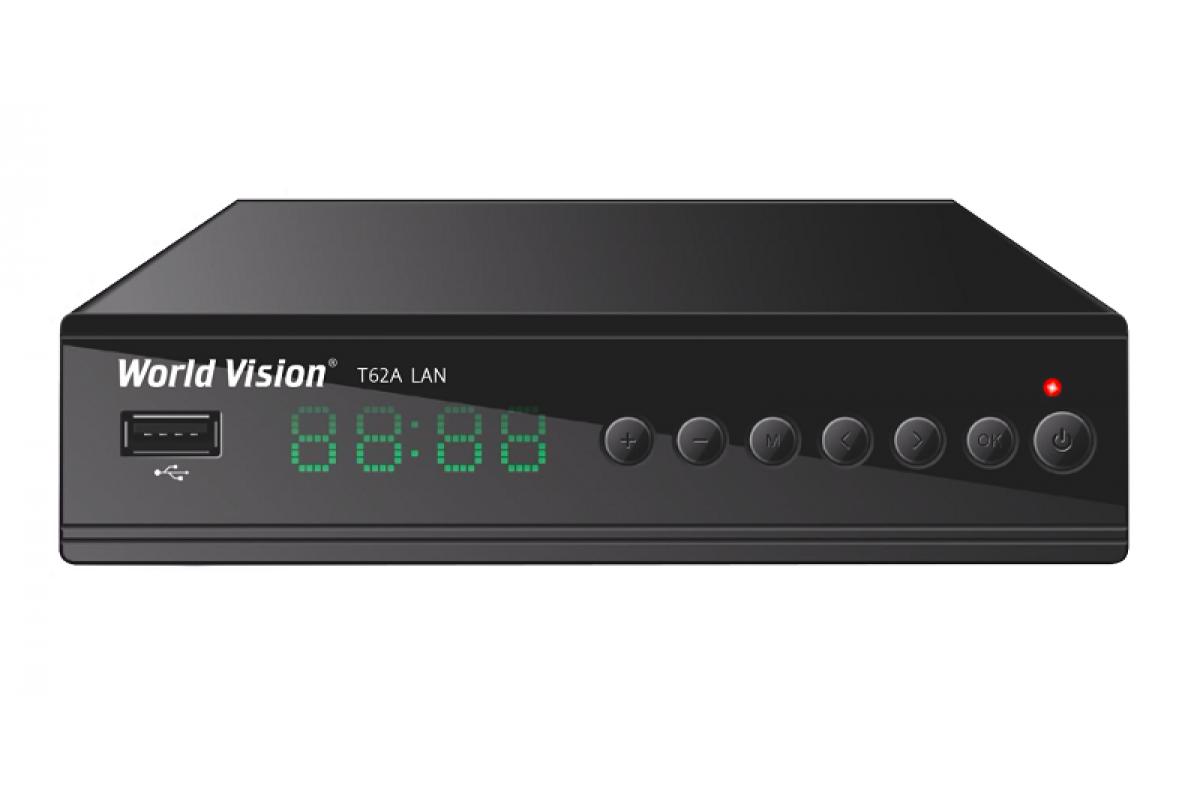 Т2 IPTV приставка World Vision T62A LAN