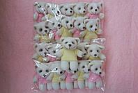 Комплект декоративных  панд с фетра в молочном цвете 10 шт