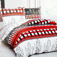 Комплект постельного белья из сатина Red and Black - 5078