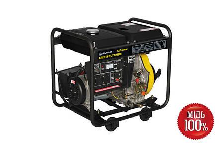 Дизельный генератор КЕНТАВР KДГ505ЕК (5.5 кВт), фото 2