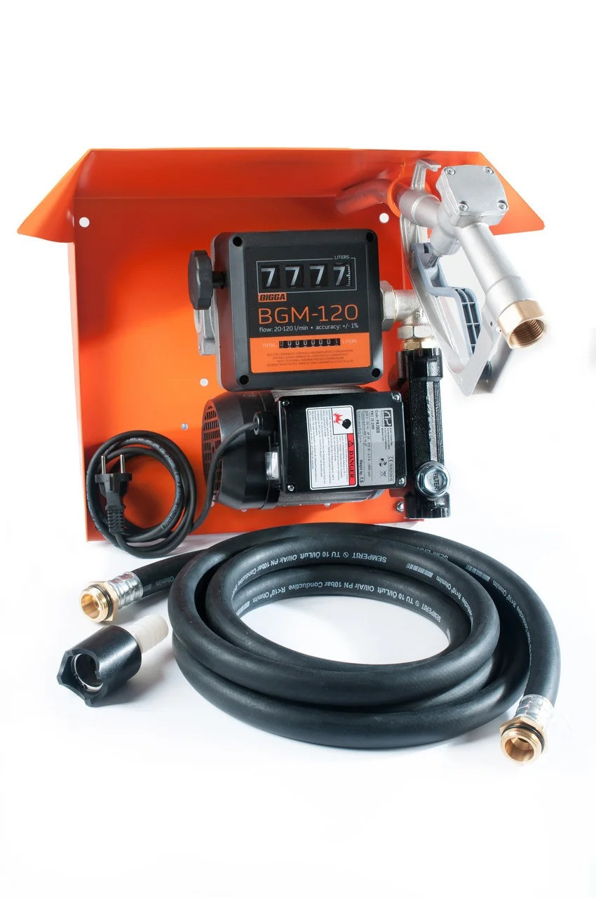 Bigga Gamma AC-80- Мини заправка дизельным топливом со счетчиком, 220В, 80 л/мин. Автоматический
