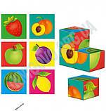 Гра настільна Кубики дерев'яні Фрукти Код ZB100104 Вид: Vladi Toys, фото 2