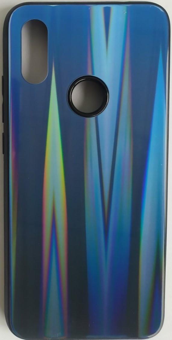 """Силіконовий чохол """"Скляний Shine Gradient"""" Xiaomi Redmi 7 (Deep Blue) №10"""