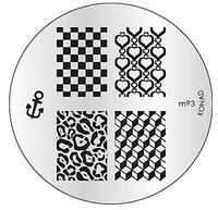 Диск для стемпинга Konad Image Plate M093, фото 1
