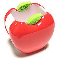 Подставка для ручек пластиковая (8,5*9*6см) Яблоко