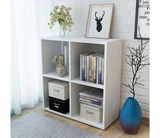 Стелаж для дому, полиця для книг з ДСП на 4 клітинки (4 КОЛЬОРИ) 720x726x290 мм Можливі Ваші розміри