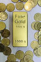 Шоколадный слиток золота. Слиток золота из шоколада. Оригинальный подарок банкиру, бизнесмену