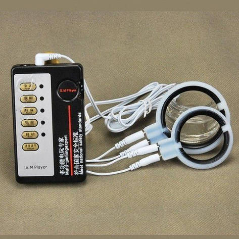 Электро-секс силиконовые пениса кольцо массажер, фото 2