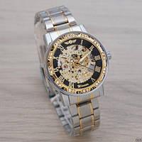 Наручные часы Winner 8012 Diamonds Automatic Silver-Black-Gold