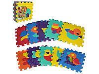 Детский развивающий коврик-пазл Мозаика Животные. M 2619