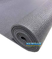 Коврик для йоги, фитнеса и аэробики 1730×610×4мм, PVC, однослойный, серый