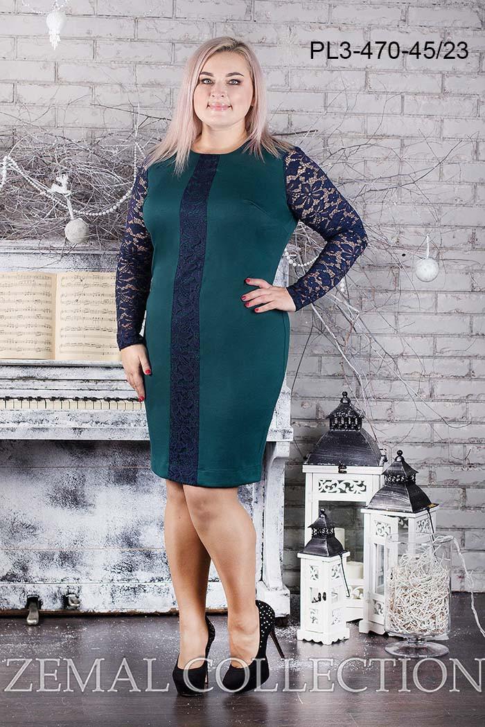 Платье  PL3-470 большие размеры