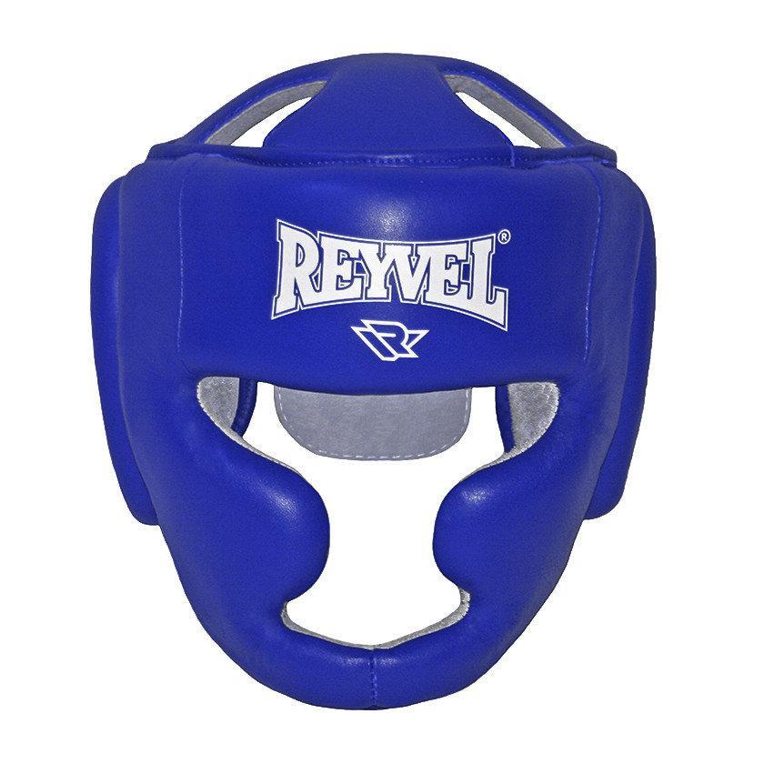 Шолом тренувальний Reyvel винив синій (розмір М)