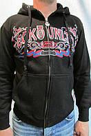 Мужская ветровка Ecko UNLTD №1972 черная с капюшоном код 168 в