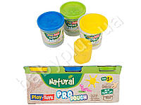 Набор массы для лепки PRO NATURAL 3х100 гр..Play Toys РТ 40560