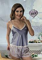 Красива атласна жіноча піжама Jasmin, фото 1