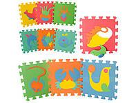 Детский развивающий коврик Мозаика Морские животные. M 0388