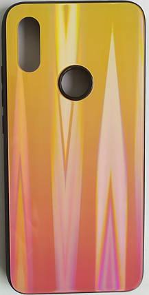 """Силіконовий чохол """"Скляний Shine Gradient"""" Xiaomi Redmi 7 (Sunset Red) №5, фото 2"""