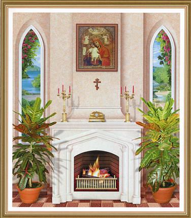 Фотообои, камин, Домашний Очаг, 15 листов, 242 x 201cm, фото 2
