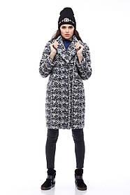 Фактурное женское пальто букле, размер 40-48