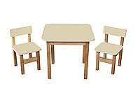 Стол деревянный и 2 стульчика Эко набор
