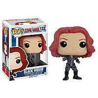 Фигурка Funko Pop Фанко Поп Капитан Америка Чёрная вдова Captain America Black Widow 10 см CA BW 132