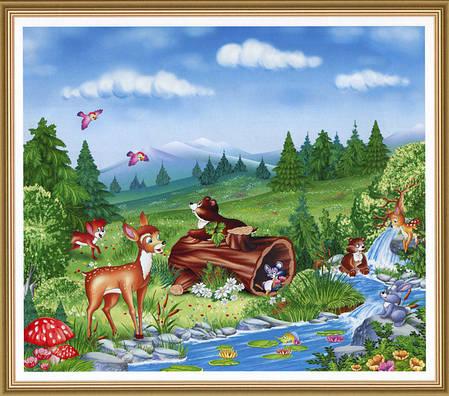 Фотообои,  детские, дитячі Веселый ручей, 15 листов, 242 x 201cm, фото 2