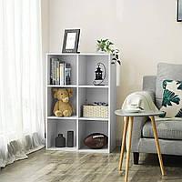 Стеллаж для дома, полка для книг из ДСП на 6 ячеек (4 ЦВЕТА) 720x1078x290 мм