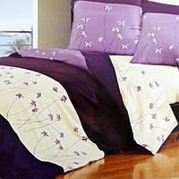 Комплект постельного белья из сатина  Purple Flowers - 029