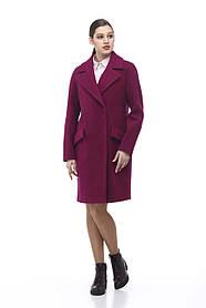 Очаровательное  женское пальто цвет фуксия, размер 40-48