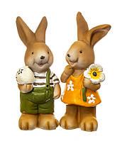 Набор статуэток Веселые кролики 8106-006. Пасхальный декор